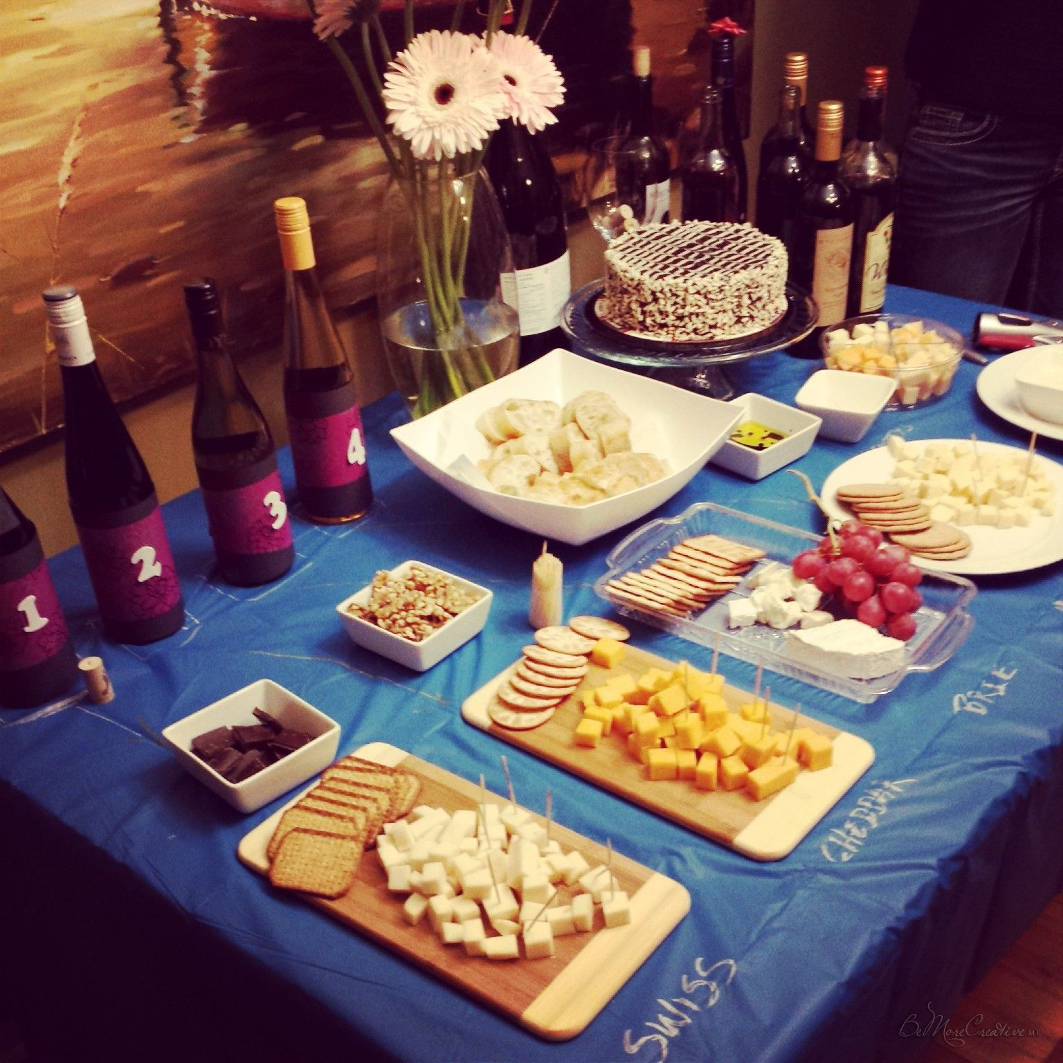DIY: Wine & Cheese Birthday Party